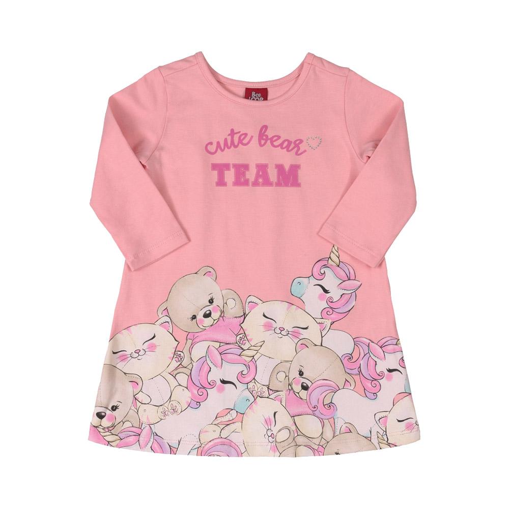 Vestido Cute Bear Team Rosa