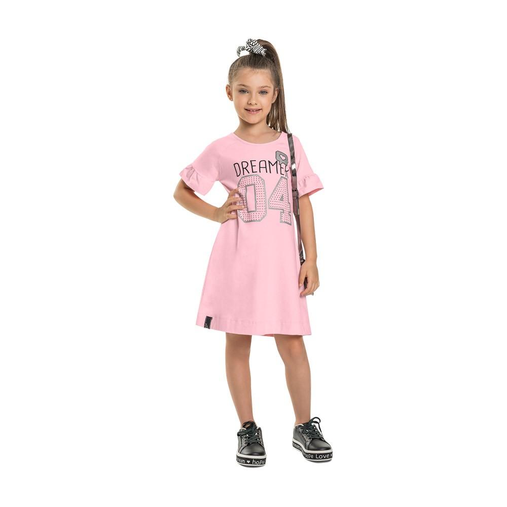Vestido Dreamer Rosa com amarrador de cabelo