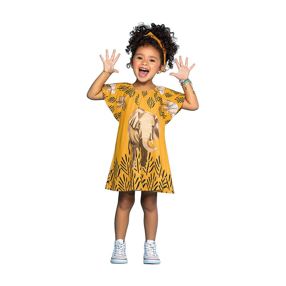 Vestido Elefante Nanai Amarelo