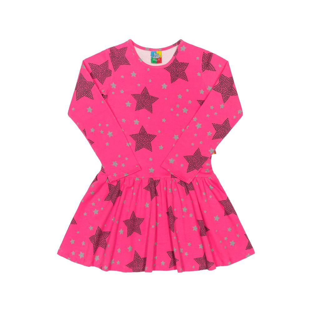 Vestido Estrelas Rosa