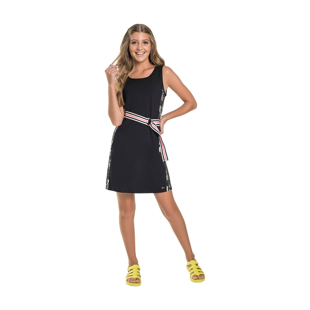 Vestido Fashion Gloss Preto