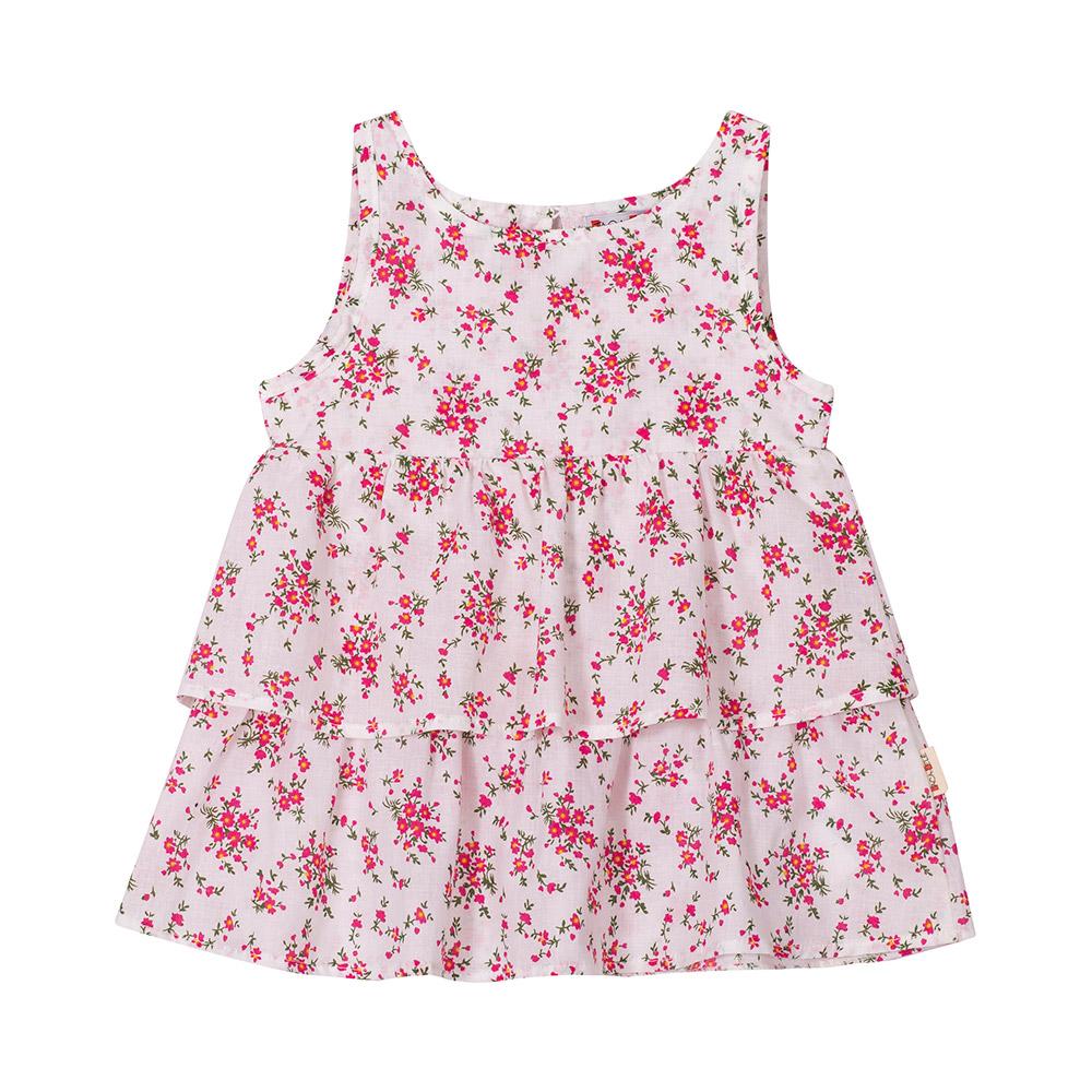 Vestido Flores e Babados Jacalelé