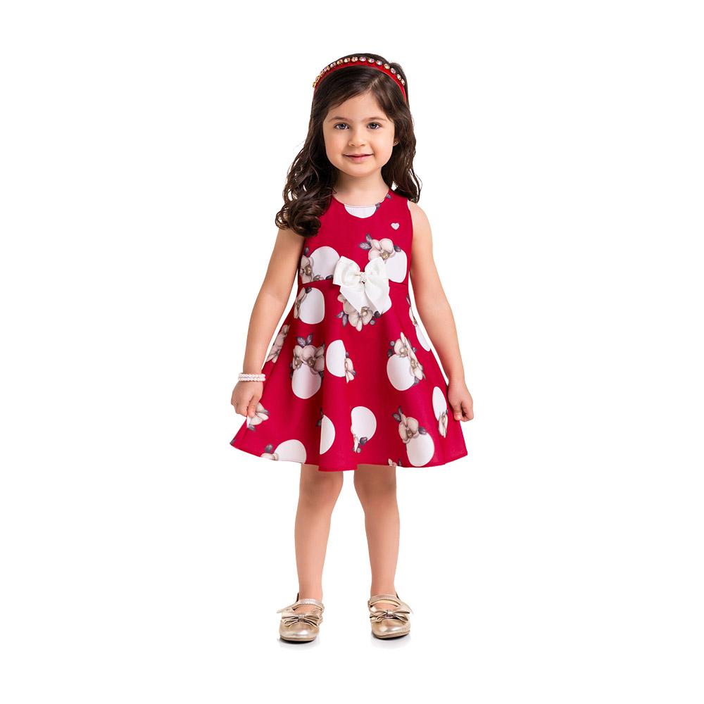 Vestido Flores Vermelho Milon