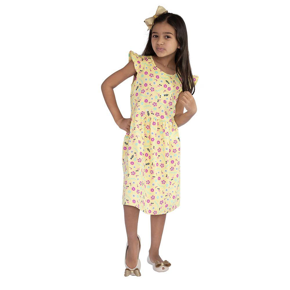 Vestido Florisbela Amarelo