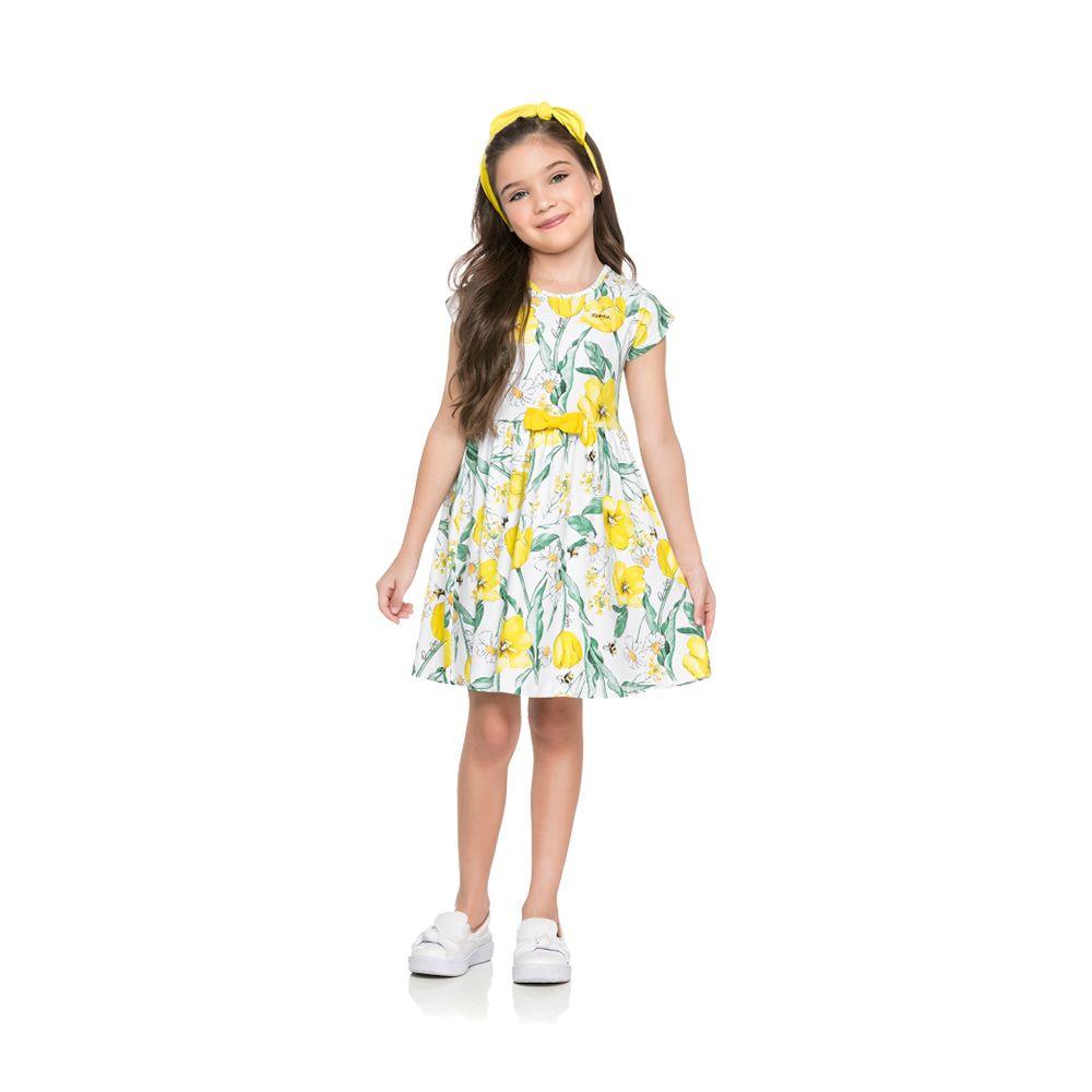 Vestido Flower Amarelo