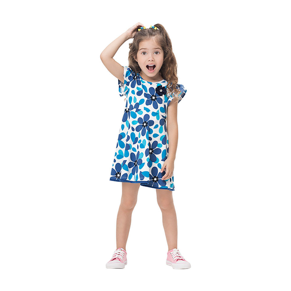 Vestido Flower Blue Kyly