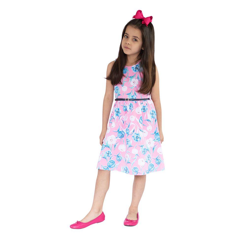 Vestido Flower Summer Rosa