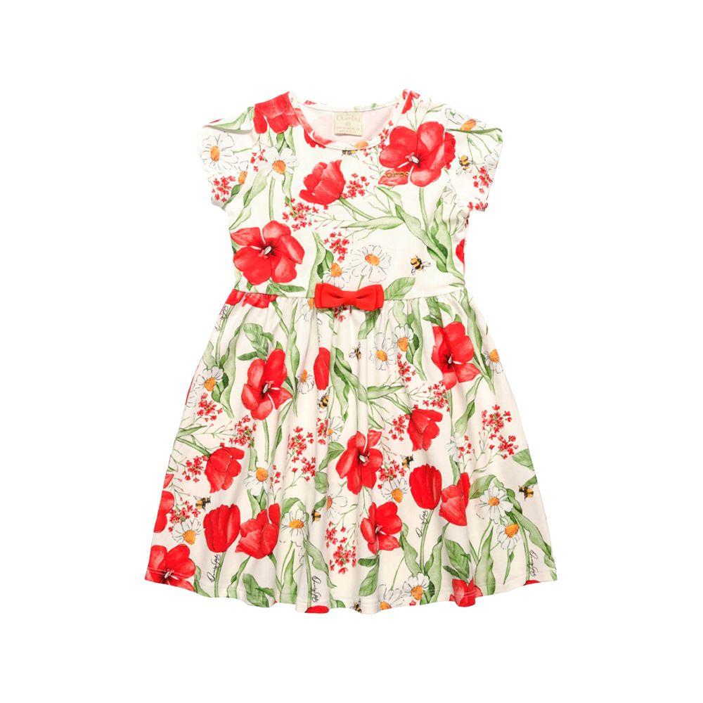 Vestido Flower Vermelho