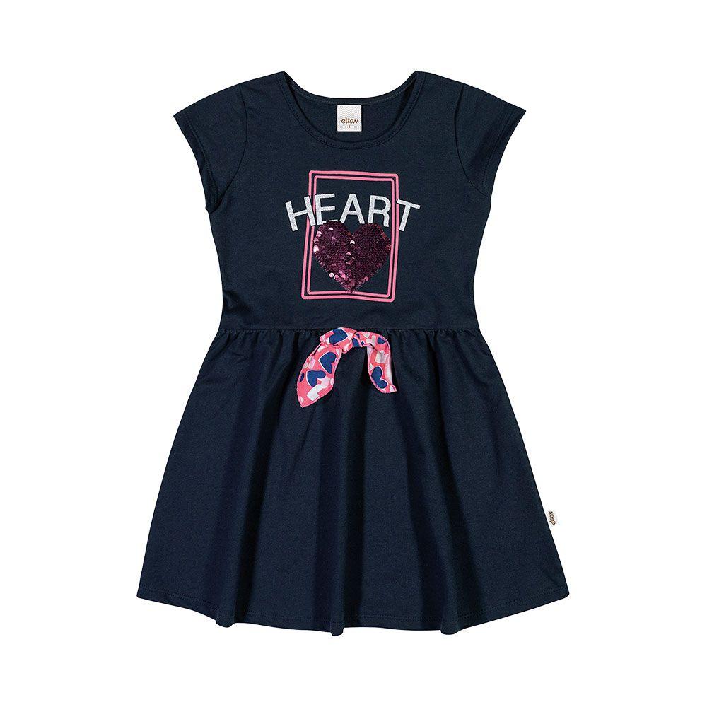 Vestido Heart Marinho