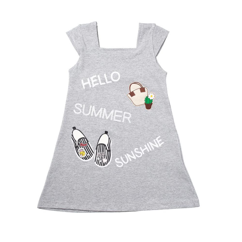 Vestido Hello Summer Cinza