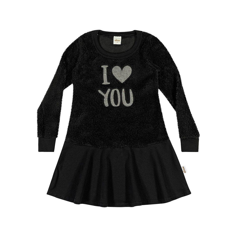Vestido I Love You Preto