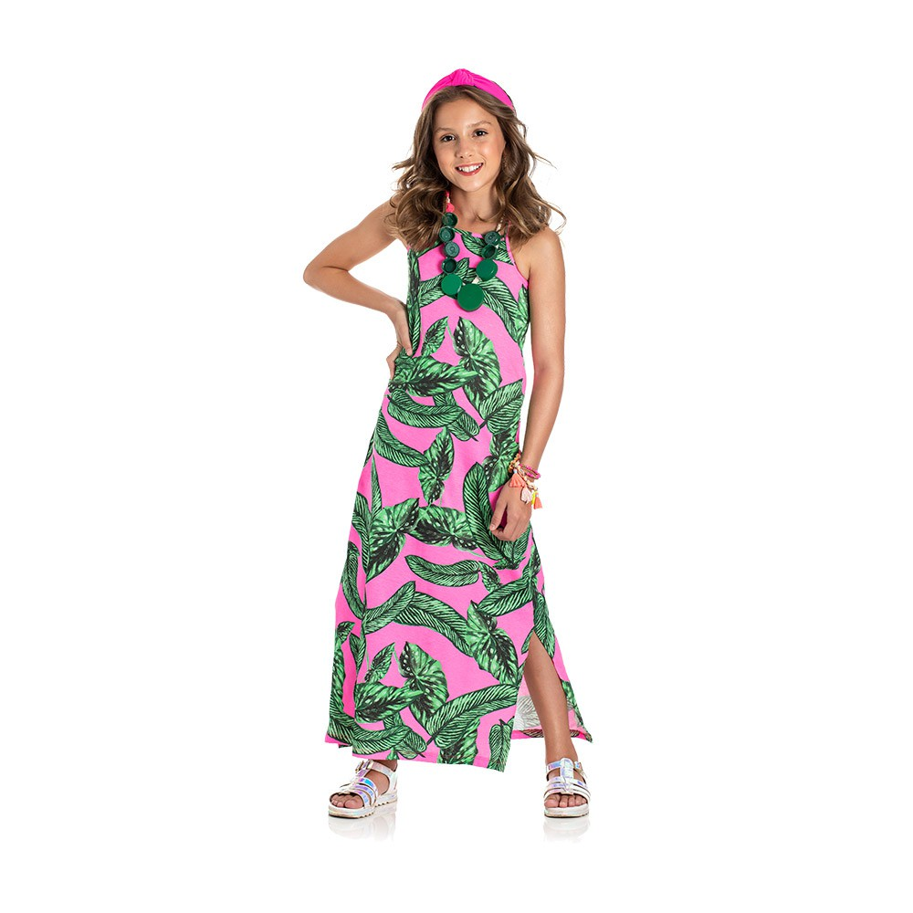 Vestido Longo Vibes Rosa