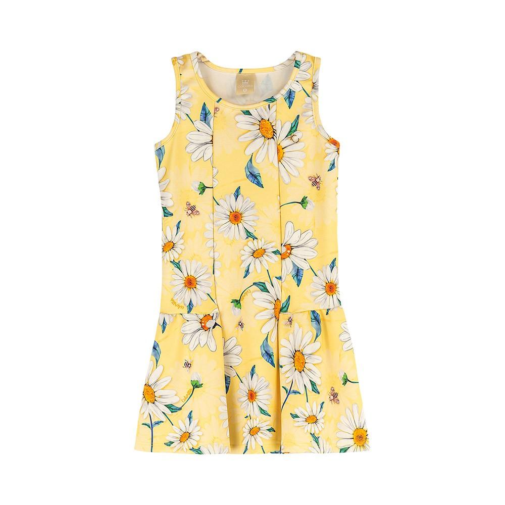 Vestido Margaridas Amarelo Colorittá