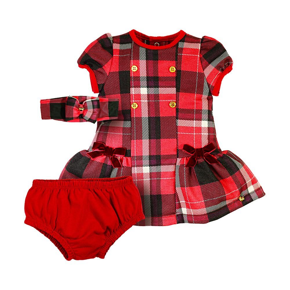 Vestido Merry Christmas  com Faixinha Grow Up