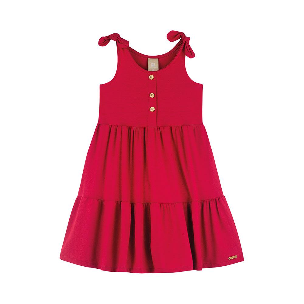 Vestido Midi Vermelho Colorittá