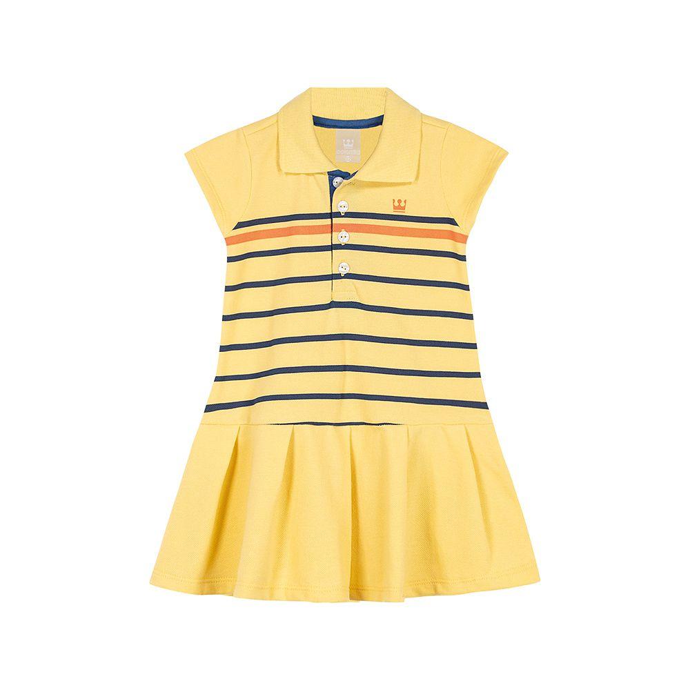 Vestido Pólo Colorittá Amarelo