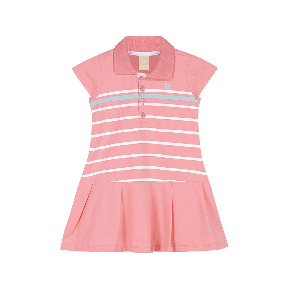 Vestido Pólo Colorittá Rosa