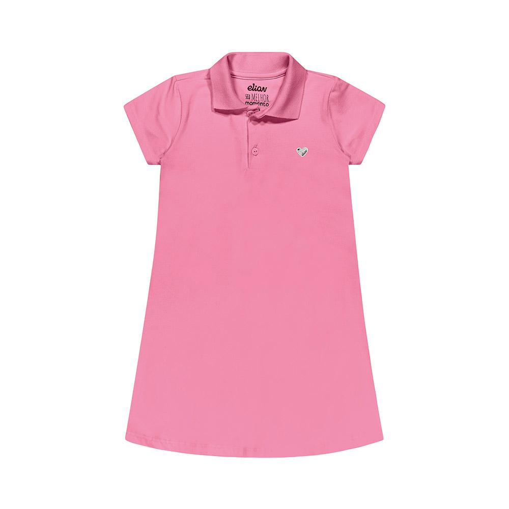 Vestido Pólo Cotton Rosa