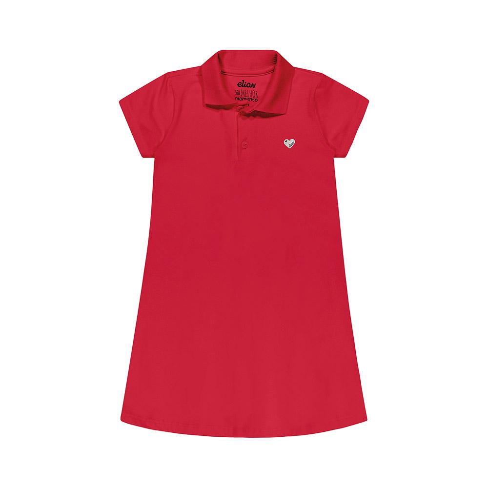 Vestido Pólo Cotton Vermelho