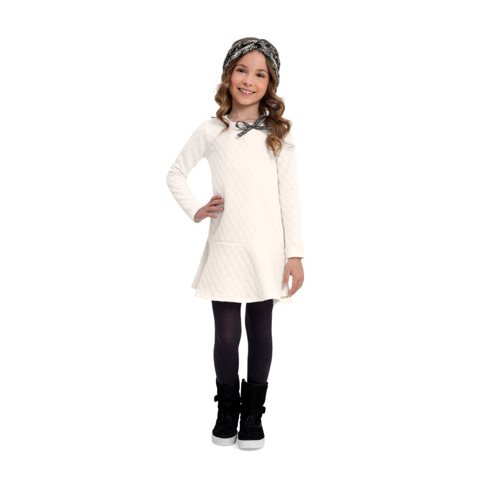 Vestido Princess Girl Creme