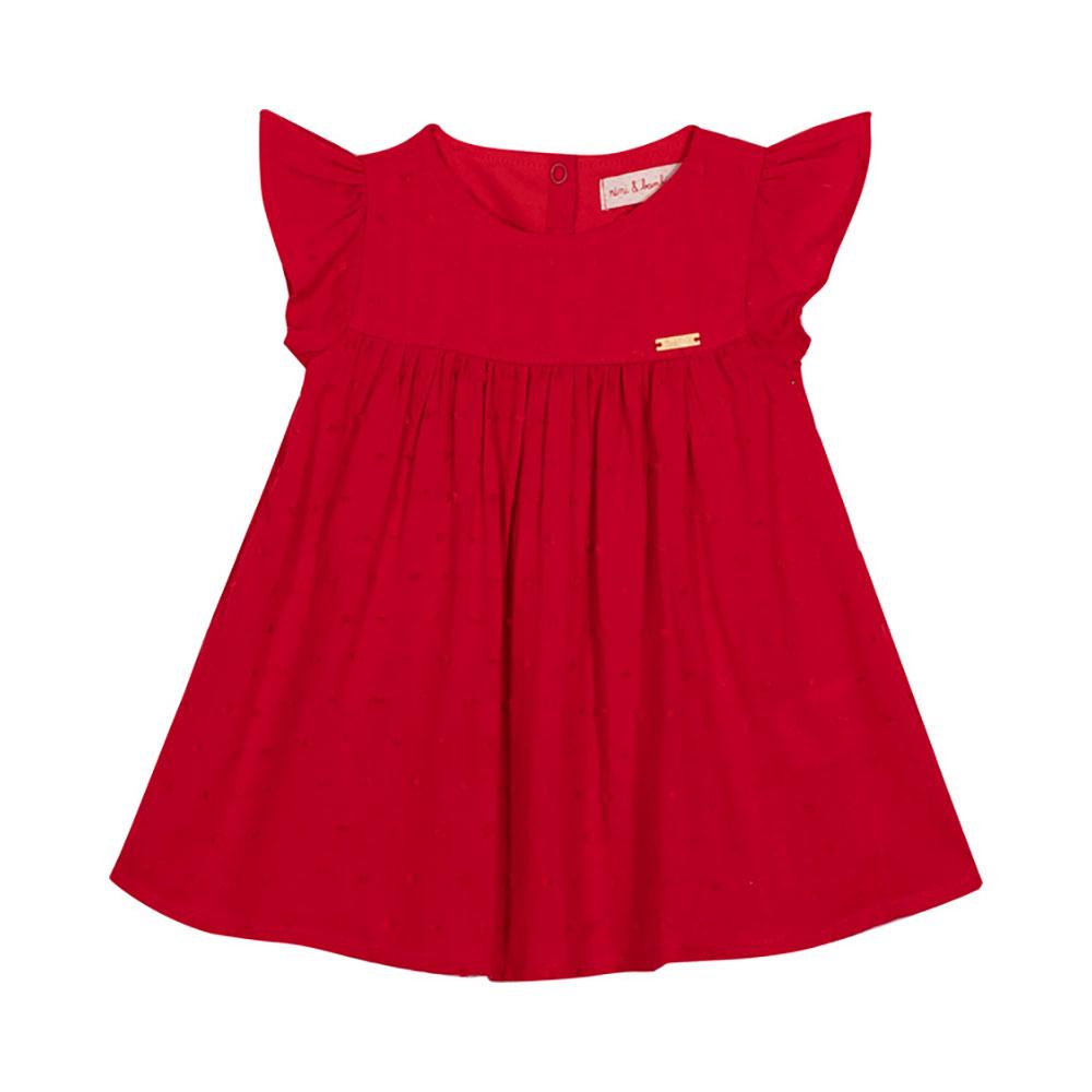 Vestido Rayon Vermelho Nini Bambini