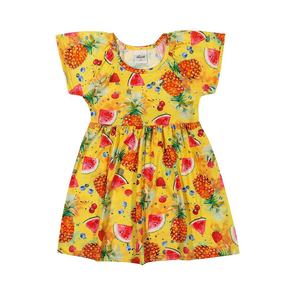 Vestido Salada de Frutas Amarelo