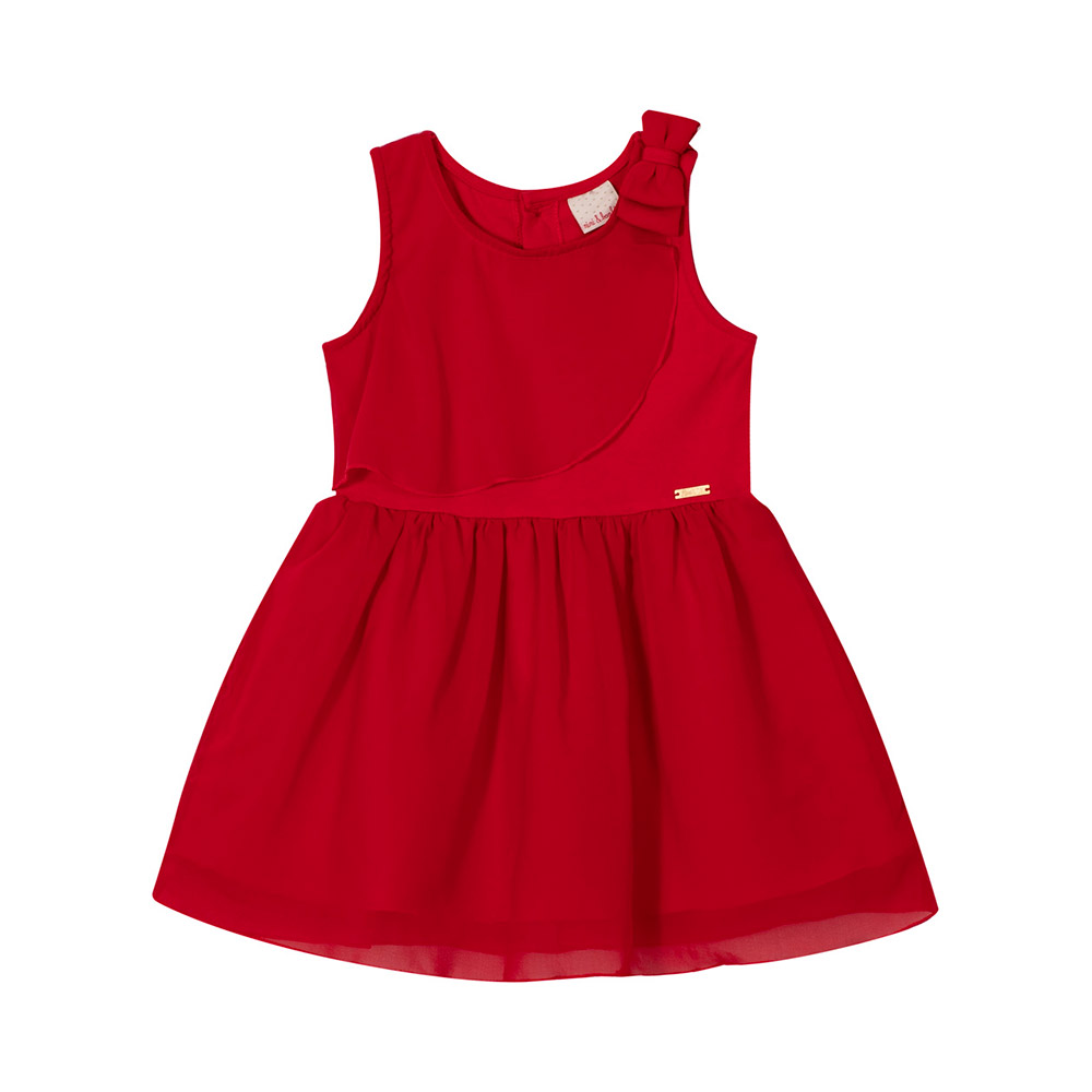 Vestido Vermelho Festa Nini Bambini