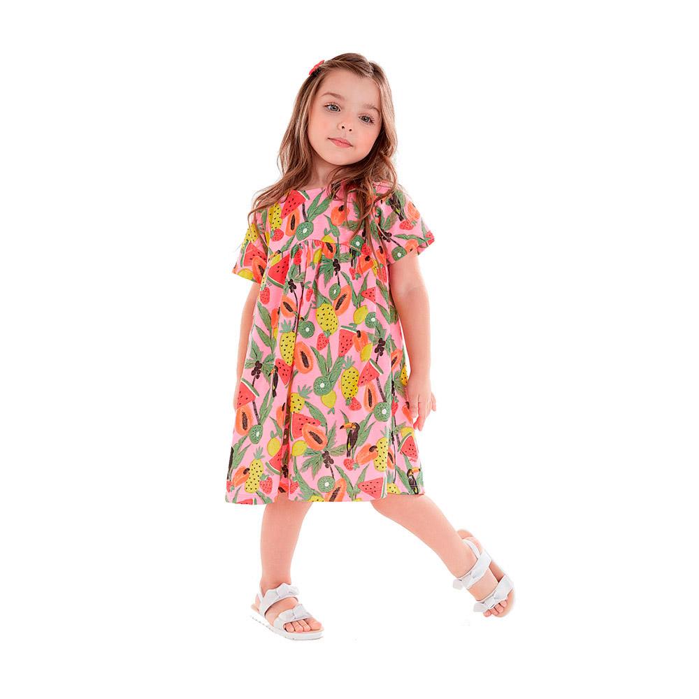 Vestido Frutas Rosa Up Baby