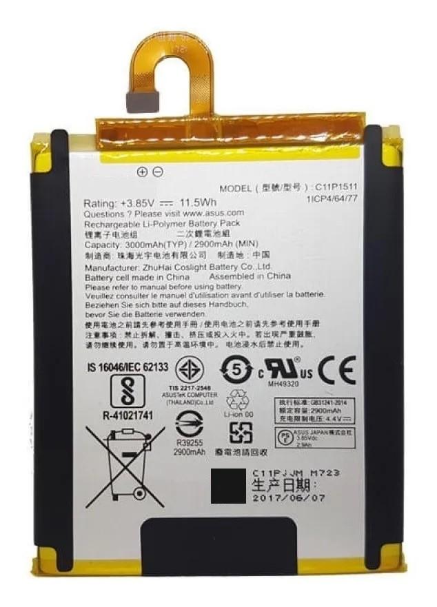 Bateria C11p1511 Compatível Zenfone 4 Selfie Zd553kl Flex curvado