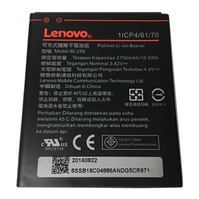 Bateria Lenovo Bl259 Vibe K5 K3 C2 Bl-259 A6020 Lenovo K10 K10a40