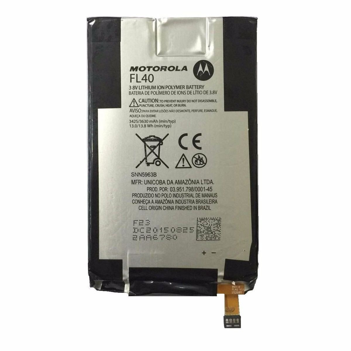 Bateria Motorola Fl40 Moto X Play Xt1563 xt1562 3630maAh