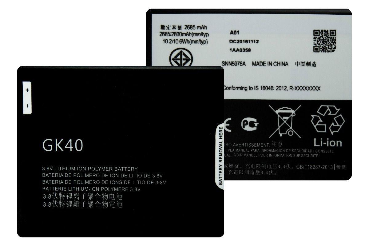 Bateria Motorola GK40 Moto G4 Play Xt1600 Xt1603 2800mAh
