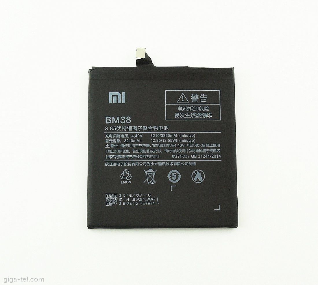 Bateria Xiaomi Mi4s Bm38 Bm-38 3210mah