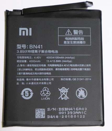 Bateria Xiaomi Mi Redmi Note4 Bn41 4100mAh