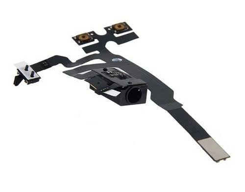 Cabo Flat Flex Volume Campainha Fone De Ouvido Apple Iphone 4s 4gs  preto