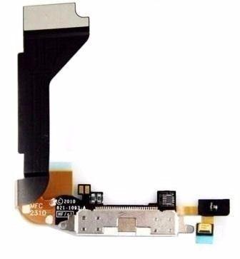Cabo Flex Flat Dock Conector Carga  iPhone 4g  A1349 A1332 BRANCO