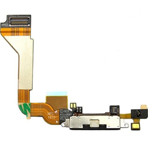 Cabo Flex Flat Dock Conector Carga  iPhone 4g  A1349 A1332 Preto