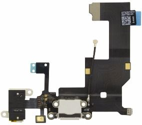 Cabo Flex Flat Dock Conector Carga Usb Fone Apple Iphone 5g A1428, A1429, A1442 BRANCO