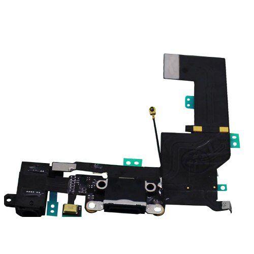 Cabo Flex Flat Dock Conector Carga Usb Fone Apple Iphone 5s  A1453, A1457, A1518, A1528,A1530, A1533 PRETO