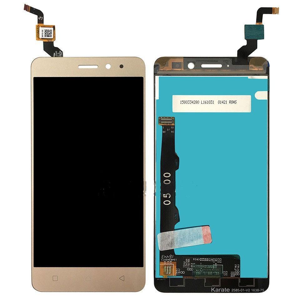 Display Lcd Tela Touch Lenovo Vibe K6 K33b36 5.0 Pol Dourado