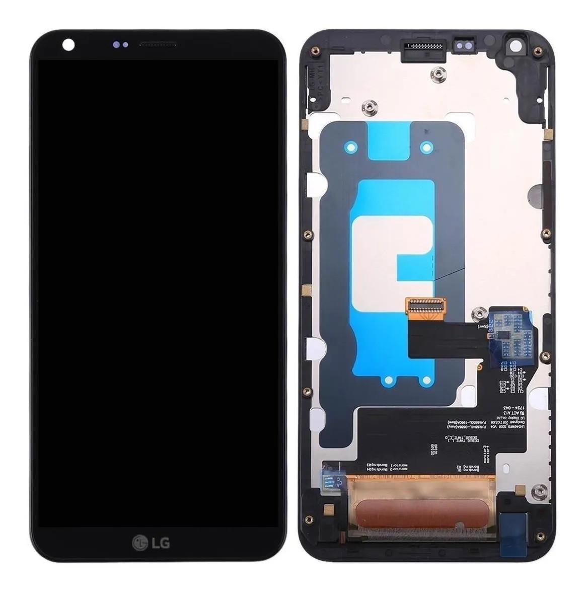 Display Tela Completa Frontal Lcd Touch LG Q6+ Q6 M700 Tv Preto