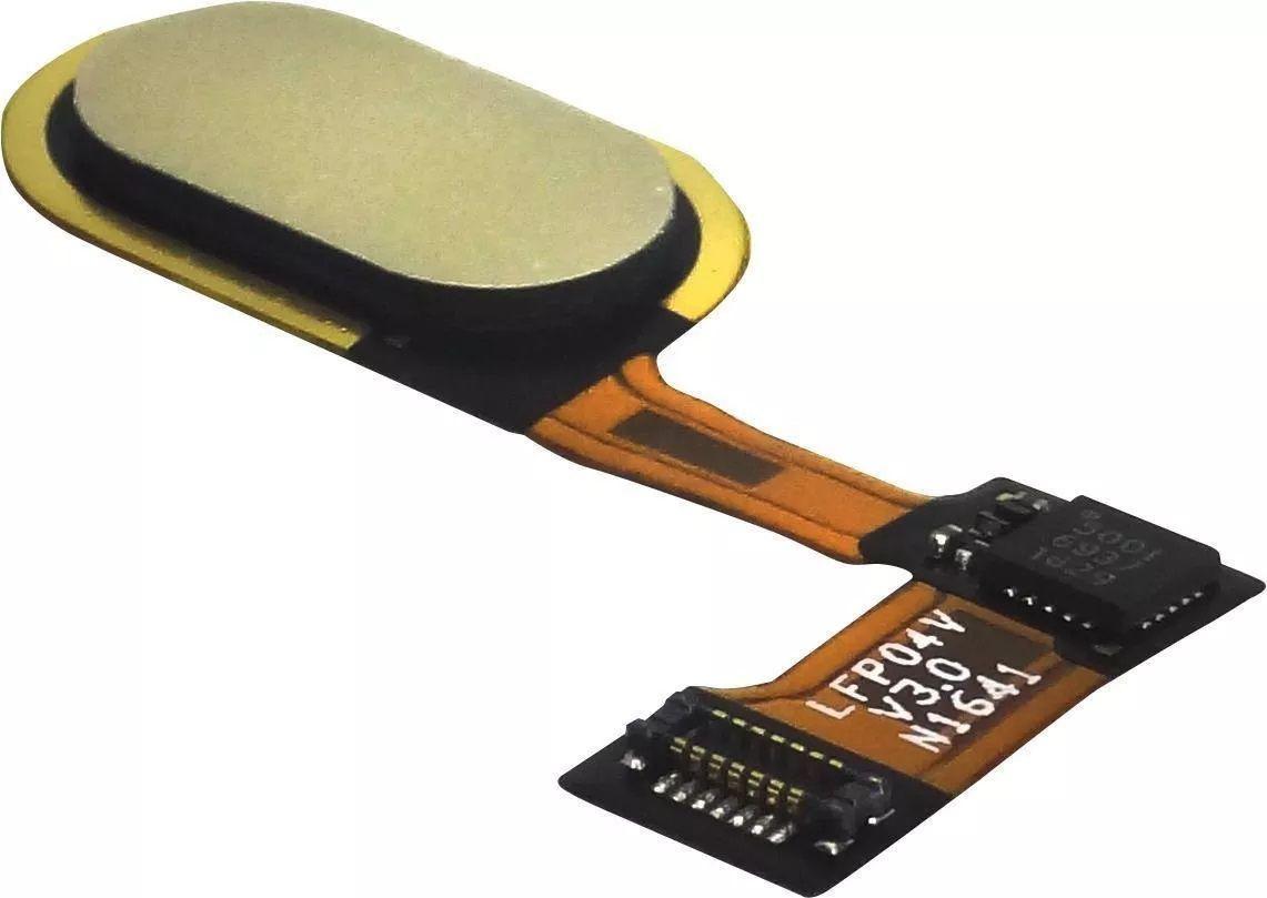 Flex Botão Home Biometria Moto G5 Xt1672 Xt1671 Dourado