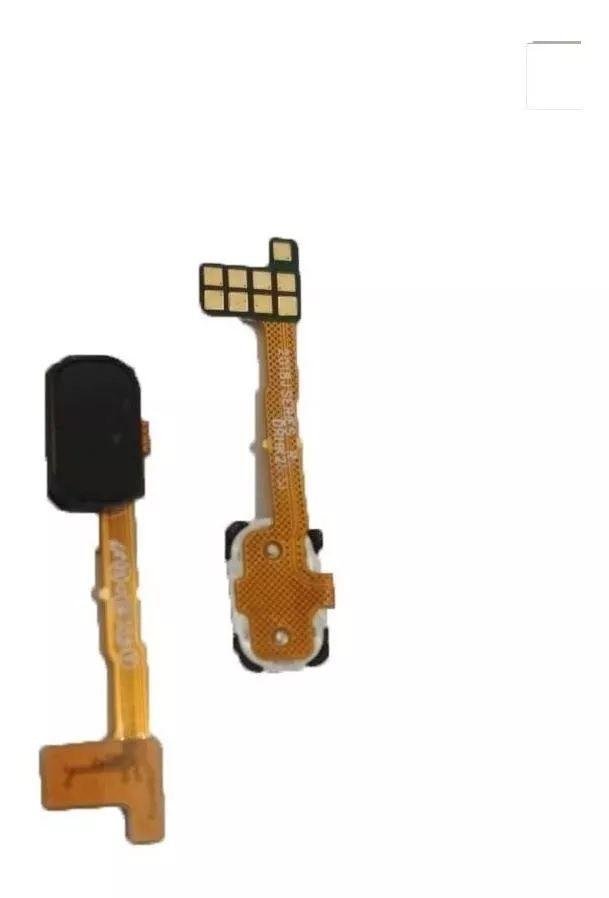 Flex Botão Leitor Digital Biometria Galaxy J8 J810m Ds Preto