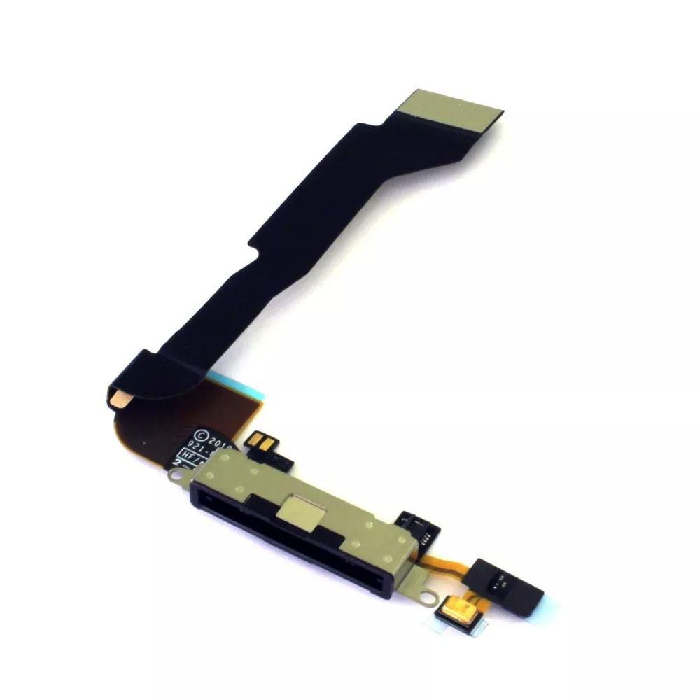 Flex Conector Carga Dock Apple Iphone 4 4g A1349 A1332 Preto