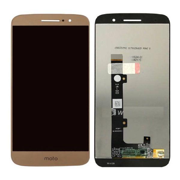 Frontal Lcd Touch Display Moto M Xt1662 Xt1663 Dourado