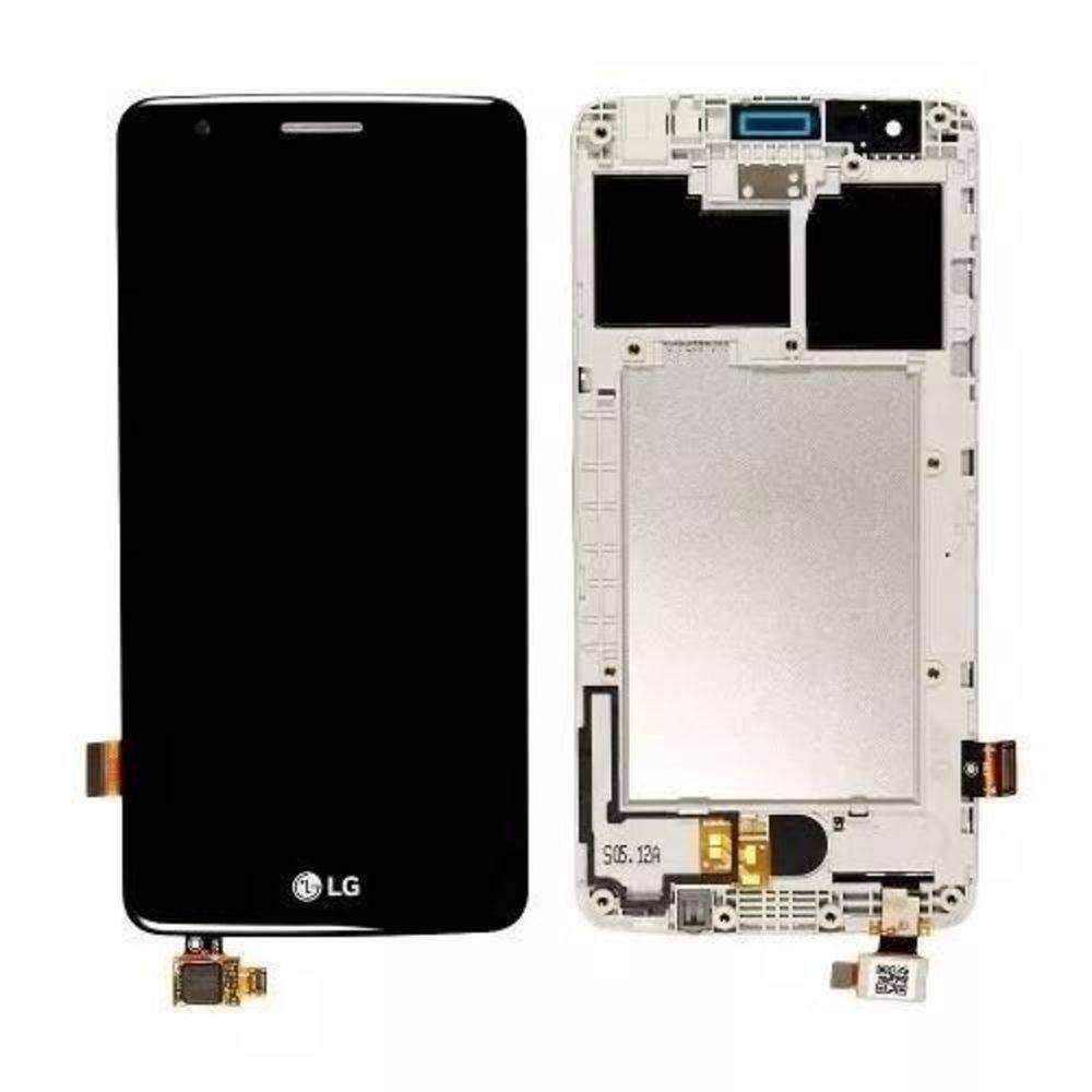 Frontal Tela Touch Display Lcd  Lg X240 K8 2017 C/ Aro PRETO