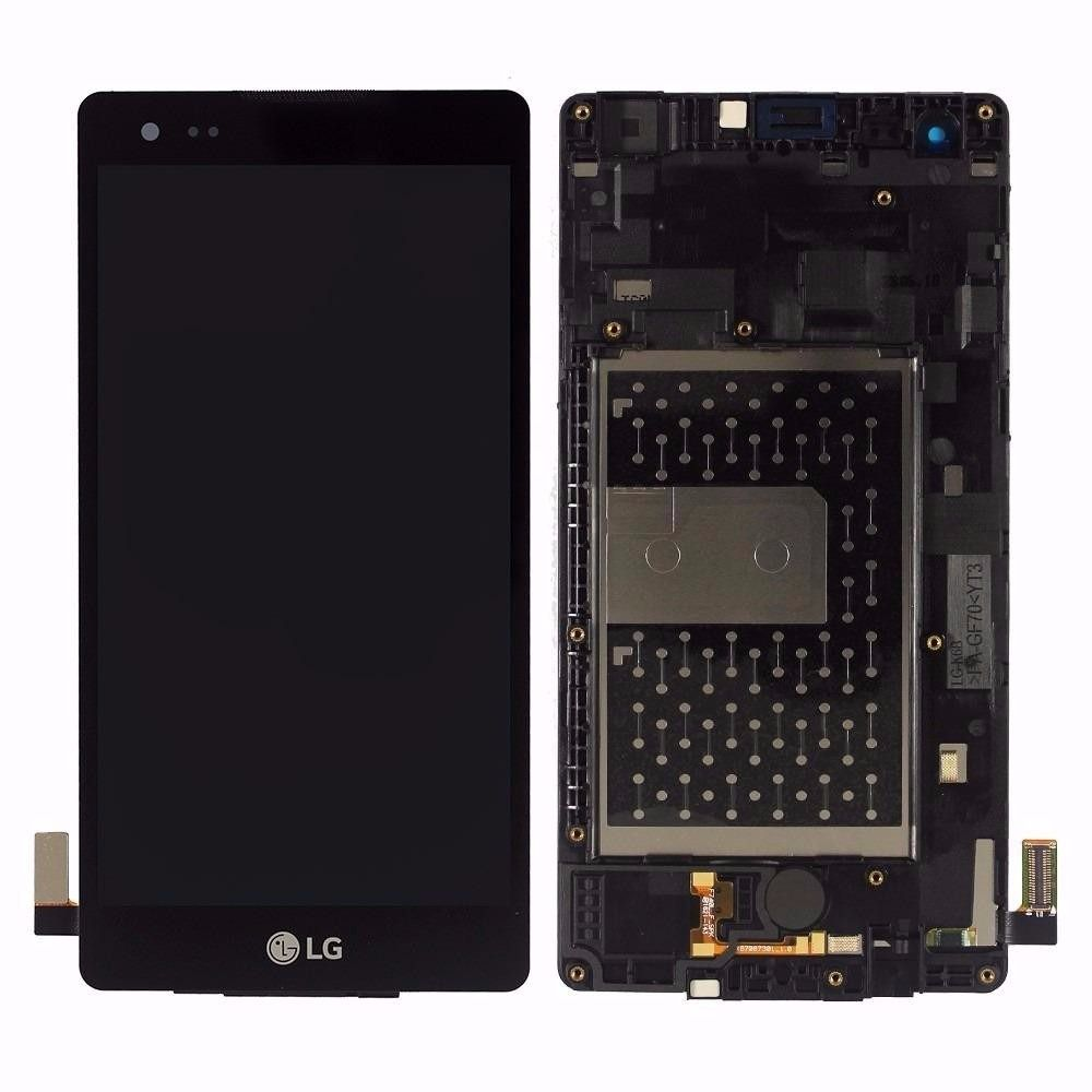Frontal Tela Touch Display Lcd  Lg X Style K200 Preto com aro