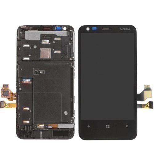 Frontal Tela Touch Display Lcd Nokia Lumia 620 N620 PRETO