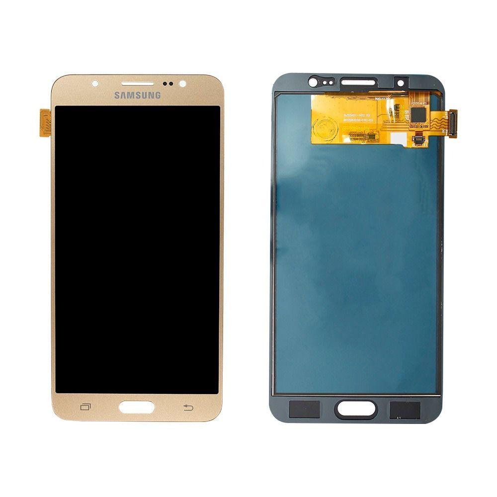 Frontal Tela Touch Display Lcd Samsung J7 J710 Metal 2016 SM-J710 Dourado Incell