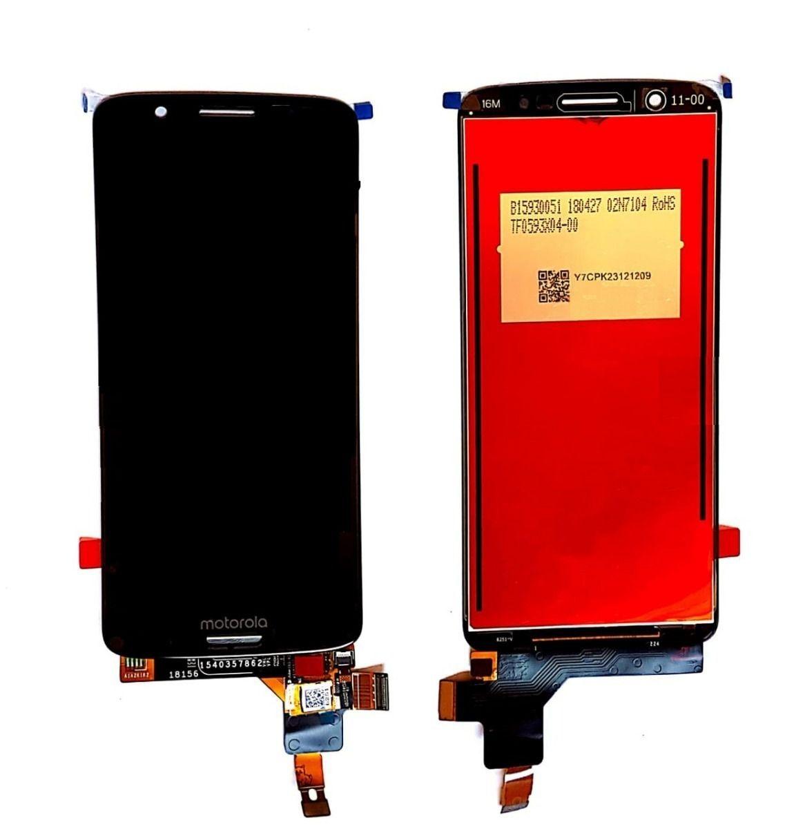 Frontal Tela Touch Display Motorola Moto G6 Plus / MotoG6 plus Xt1926 Preto